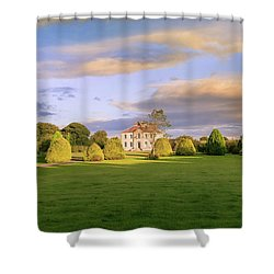 Shower Curtain featuring the photograph The Old Country House by Roy McPeak