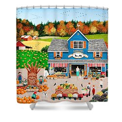 The Old Country Store Shower Curtain by Wilfrido Limvalencia