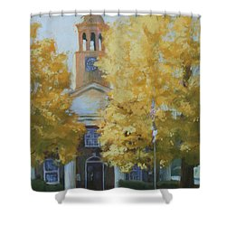 The Old Courthouse, 9am Shower Curtain by Carol Strickland