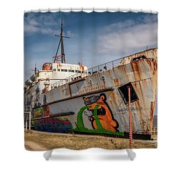 Shower Curtain featuring the photograph The Old Duke by Adrian Evans