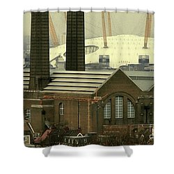 The Old Factory Shower Curtain by Christo Christov
