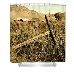 The Old Fence Post Shower Curtain