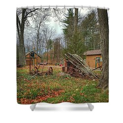 The Old Field Tools Shower Curtain