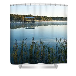 Shower Curtain featuring the photograph The Old Fishing Pier by Tamyra Ayles