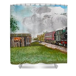 The Old Forsaken Shack Shower Curtain by Carole Robins