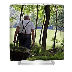 The Old Gardener Shower Curtain
