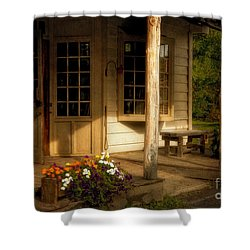 The Old General Store Shower Curtain by Lois Bryan