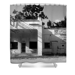 The Old Greyhound Station Shower Curtain by David Lee Thompson