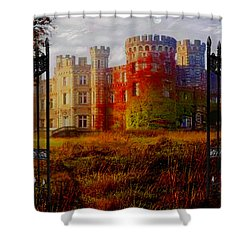 The Old Haunted Castle Shower Curtain