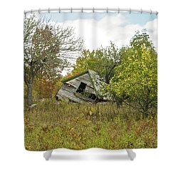 The Old Homestead And Orchard Shower Curtain by Michael Peychich