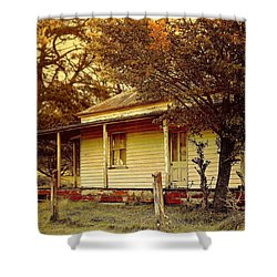 Shower Curtain featuring the photograph The Old Homestead by Wallaroo Images
