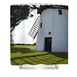 Shower Curtain featuring the photograph The Old Irish Windmill by Ian Middleton