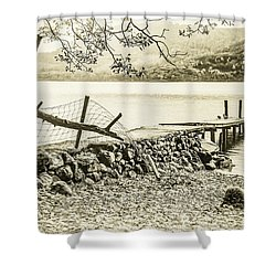 The Old Jetty Shower Curtain
