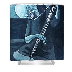 The Old Kloonhornist Shower Curtain by Tom Carlton