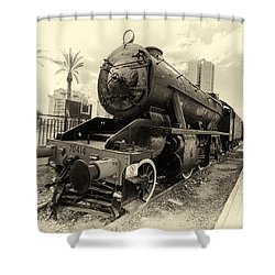 The Old Locomotive Shower Curtain