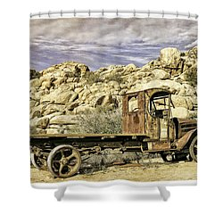 The Old Mack Shower Curtain
