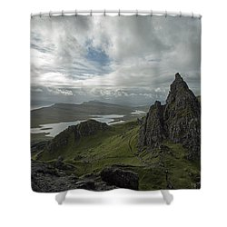 The Old Man Of Storr Shower Curtain by Dubi Roman