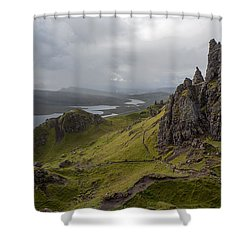 The Old Man Of Storr, Isle Of Skye, Uk Shower Curtain by Dubi Roman