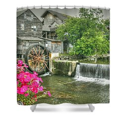 The Old Mill Shower Curtain by Myrna Bradshaw