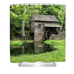 The Old Mill Shower Curtain by Nicki McManus