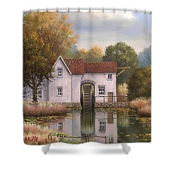 The Old Mill Shower Curtain by Sean Conlon
