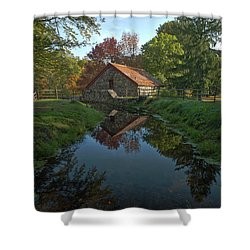 Shower Curtain featuring the photograph The Old Mill by Stephen Flint