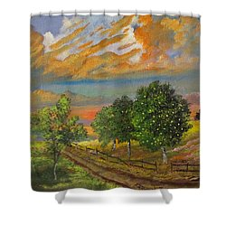 The Old Orchard Shower Curtain