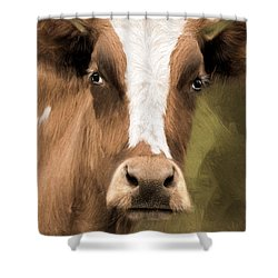 Shower Curtain featuring the photograph OX by Robin-Lee Vieira