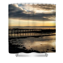 The Old Pier In Culross, Scotland Shower Curtain