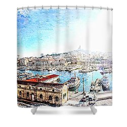 The Old Port Of Marseille  2 Shower Curtain