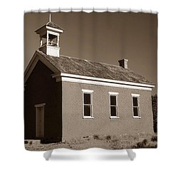 The Old Schoolhouse Shower Curtain by David Lee Thompson