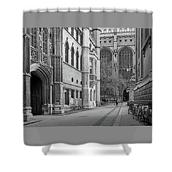 Shower Curtain featuring the photograph The Old Schools University Offices Cambridge by Gill Billington