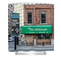 The Old Shillelagh Detroit  Shower Curtain