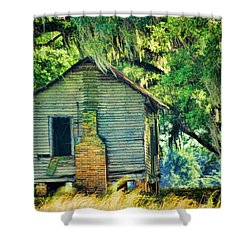 Shower Curtain featuring the photograph The Old Slaves Quarters by Jan Amiss Photography