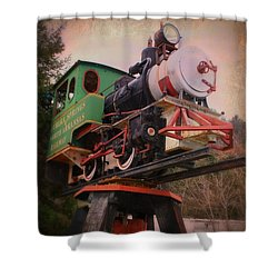 The Old Steam Locomotive Shower Curtain