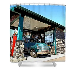 The Old Texaco Station Shower Curtain