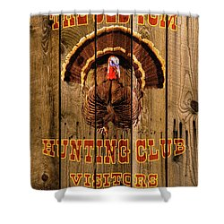 The Old Tom Hunting Club No. 2 Shower Curtain by TL Mair