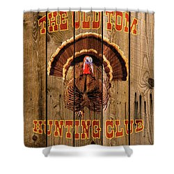 The Old Tom Hunting Club No. 3 Shower Curtain by TL Mair