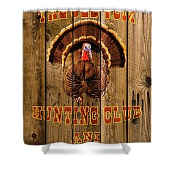 The Old Tom Hunting Club Shower Curtain by TL Mair