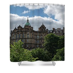 Shower Curtain featuring the photograph The Old Town In Edinburgh by Jeremy Lavender Photography