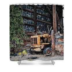 Shower Curtain featuring the photograph The Old Train Depot by Mark Guinn