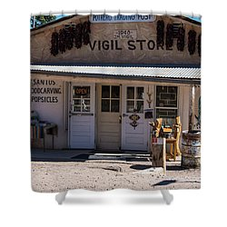 Old Vigil Store In Chimayo Shower Curtain