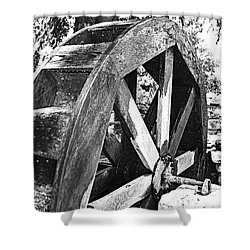 The Old Waterwheel Shower Curtain