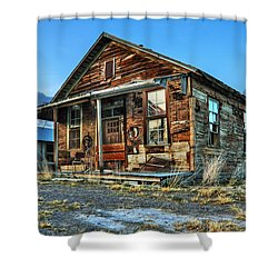 The Old Wendel General Store Shower Curtain by James Eddy
