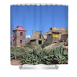 The Old Western Town  Shower Curtain