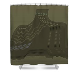 The Olive Citadel Shower Curtain
