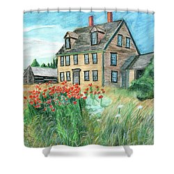 The Olson House With Poppies Shower Curtain