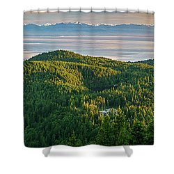 The Olympics From Mt Erie Shower Curtain by Ken Stanback