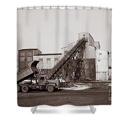 The Olyphant Pennsylvania Coal Breaker 1971 Shower Curtain
