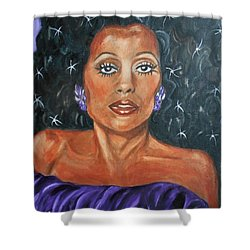 The One And Only Diana Ross Shower Curtain